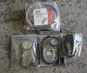 Fuel Injection Pressure Testers, Qty 3, And Fluid Transfer Hand Pump Kit