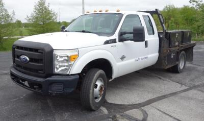 2011 Ford Super Duty F-350 Work Truck, V8 6.7L Power Stroke B20 Turbo Diesel, Extended Cab, 4WD, Odometer Reads 124,580 Miles, VIN # 1FD8X3HT2BEA42668, SEE VIDEO