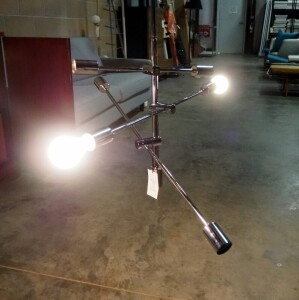 "Nuevo Byron Pendant Light, 3 Adjustable Arms With 7 Light Fixtures, Fixture Is 34"" W x 34"" D, Extension Rods Make Length Adjustable, With Instructions"