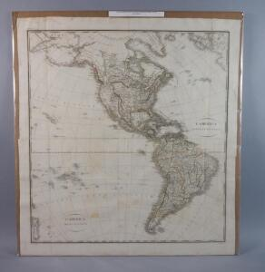 Large Map Of N. & S. America, 1820, Rare