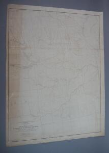 Large Original War Department Survey Map Of Part Of Missouri, 1885