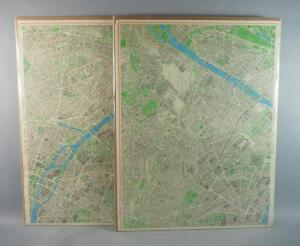 Plans/Maps Of Part Of Central Paris, Pre-WW2, Hand Colored, Qty 2