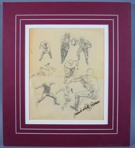 Kelly Freas Original Preliminary Drawing In Pencil, Signed Twice By Kelly Freas, Rare