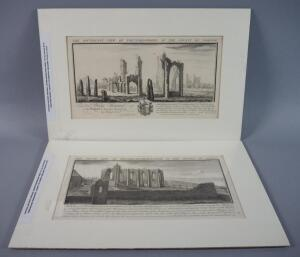 Original Copper Engravings Of English Castles, 1773, Qty 2