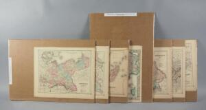 Antique J. H. Colton & Co. Atlas Maps, Hand Colored, Various World Countries, All 1855, Qty 7