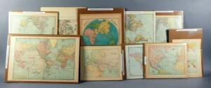 Antique Maps Of The World, 1880-1906, Qty 10