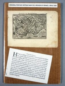 Original Abraham Ortelius Map Of Caletes et Bononienses (A Region In Southern France), Circa 1593