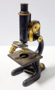 Bausch & Lomb Microscope Pat'd 1915, Made For Chicago Lens And Instrument Co, with Brass Adjustment Knobs And Lenses
