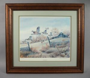 Vintage Signed & Numbered Print By Bernard Martin, Matted & Framed