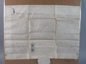 Large Antique Hand Written Probate Manuscript On Vellum