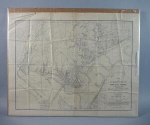 Vintage Topographical Map of Fort Riley, Kansas, 1908