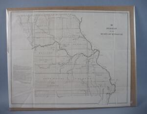Large Diagram Of The State Of Missouri, 1847