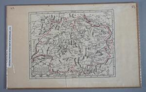 Original Antique Map Of Switzerland, Outline In Hand Coloring, 1791