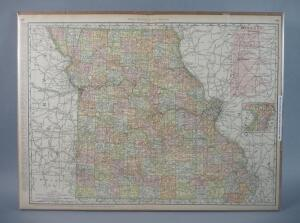 Large Railroad Map of Missouri, 1902