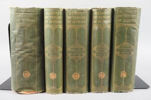 """Allibone's Dictionary of Authors"", 1898, 5 Volume Set"