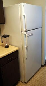 "General Electric Refrigerator/Freezer, Model TBX16SAZDRWH, 67.5"" x 28"" x 29.5"", Bidder Responsible For Proper Removal"