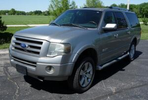 2008 Ford Expedition EL 4 Door SUV, 241,273 Miles, V8, 5.4L, 4WD, VIN# 1FMFK20518LA60032, SEE VIDEO