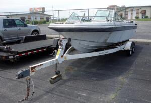 1988 Imperial Freedom Boat And Shoreland'r Profile 2000 Boat Roller Trailer With 2 New Tires, Project Boat