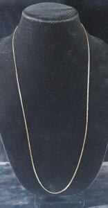 "Gold Necklace Marked 14kt Italy, 30"" Long, 4.75 g Total Weight"