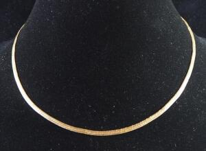 "Gold Necklace Marked 14k, 18"" Long, 7.24 g Total Weight"