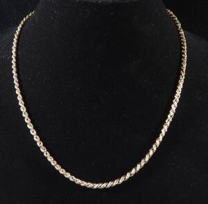 "Gold Necklace Marked 14k, 21"" Long, 7.58 g Total Weight"