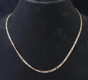 "Gold Necklace Marked 14kt Italy, 19.5"" Long, 7.18 g Total Weight"