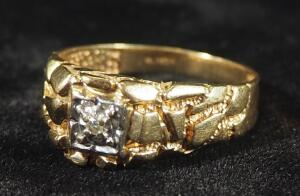 Gold Ring Mark SJ10k, Size 10-1/4, 4.71 g Total Weight