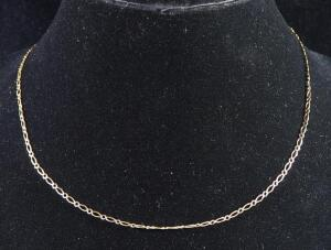 "Gold Necklace Marked 10k MEX, 18"" Long, 2.37 g Total Weight"