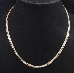"Gold Necklace Marked 10k Italy, 19"" Long And Gold Necklace Marked 1/20-12 KGF, 20"" Long, 9.53 g Total Weight"
