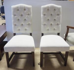"Classic Concepts Dining Chairs With Padded Seat And Back, 44"" High, Qty 2, Matches Lot 89"