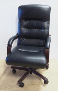 Lay-Z-Boy Swivel Reclining Rolling Padded Office Chair, Adjustable Height