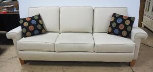 "Sofa With Removable Bottom Seat Cushions, 35"" High x 85"" Wide x 34"" Deep, With 2 Matching Throw Pillows"