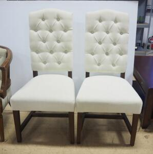 "Classic Concepts Dining Chairs With Padded Seat And Back, 44"" High, Qty 2, Matches Lot 82"