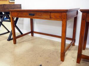 "Ashley Furniture Writing Desk With Single Flip-Down Front Drawer, 30"" High x 48"" Wide x 28"" Deep, Matches Lot 98"
