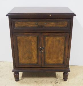 Buffet With 1 Drawer And 2 Shelf Lower Storage Cabinet With Relief Scroll Design