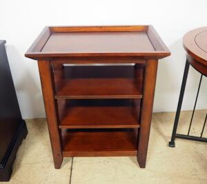 "Side Table With 3 Lower Shelves, 27.25"" High x 22"" Wide x 15"" Deep"