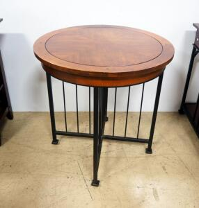 "Drexel American Review Collection Table, 26.25"" High x 26"" Dia"