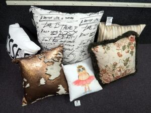 Pillow Assortment, Qty 6