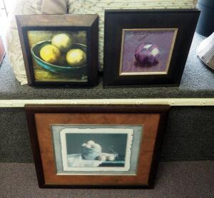 "Still Life Prints, Qty 3, 23"" x 26.5"", 14"" x 13"", And 14.5"" x 14.5"""