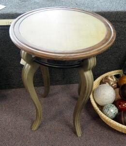 "Uttermost Mariah Accent Table With Cabriole Legs, 26"" x 22"" Round"