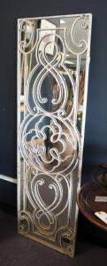 "Uttermost Metal Framed Wall Mirror, 64"" x 20"""