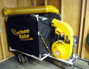 Cyclone Rake XL Power Vacuum With 32 Foot Estate Vacuum Hose And Accessories