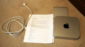 Apple Mac Mini PC Model # A1347 And Bluetooth Mouse Pad Model # A1339 With Spec Sheet