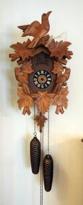Vintage 8-Day Wood Cuckoo Clock, Hands Need Replaced