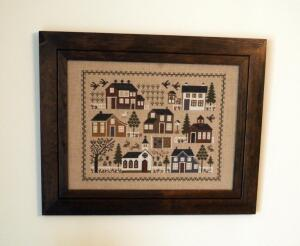 "Wood Framed Cross Stitch Sampler 16.5"" x 20.5"", Ceramic Canister Votive, Bud Vase, Scentsy Fragrant Wax Warmer, Bird Figurines, & More, Qty 8 Pieces"