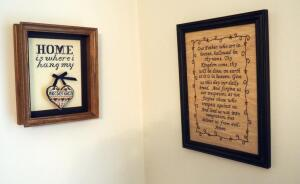 Framed Cross Stitch And Needlepoint Wall Art, Qty 3