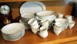Heirloom Fine China Pattern Number 3512 8-Place Setting Including Plates, Saucers, Bowls, Cups, And Serving Platter