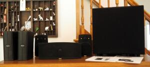 Yamaha Natural Sound AV Receiver Model RX-V592 And Boston Speakers Qty 3, With Remote