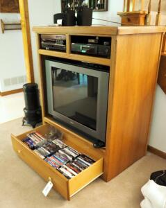 "Single Drawer Media Cabinet, 52.5"" x 43"" x 26.5"", Contents Not Included, 2ND DAY LOAD OUT ONLY"