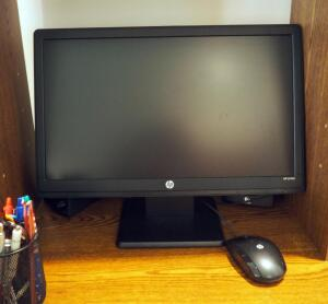 "HP Pavilion PC Tower With Beats Audio, 19"" HP Monitor Model LV1911, HP LaserJet P1102w Printer, Speakers, And Mouse"